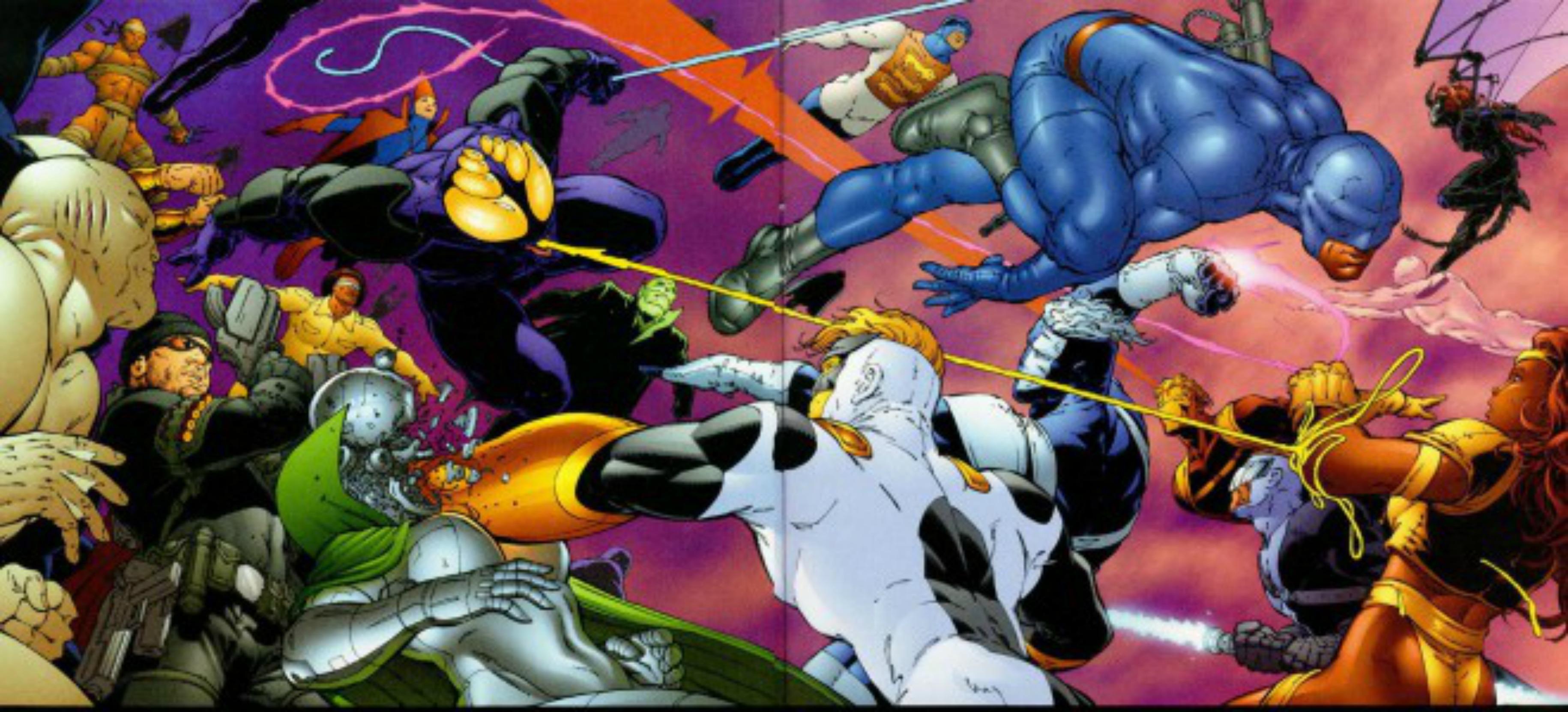 multivers crisis - [Multivers Crisis] La Fin de Tout [Justice League] 908417TheAuthorityVol116pagesJackKirbyanalogue660x513