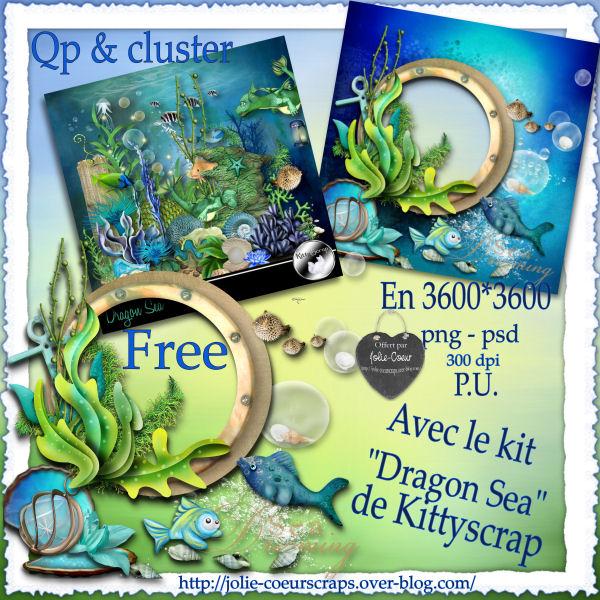 """ Dragon Sea "" Kittyscrap + kdossssssss !  913283PVQPClusterDragonSeaJolieCoeurScrapsKittyscrap"