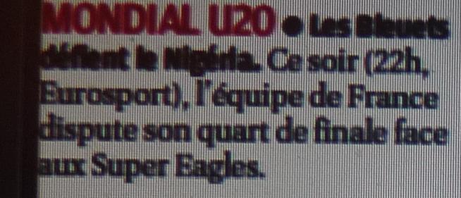 """LES BLEUETS.... U 20... CA C""""  EST DU SERIEUX  917380P1210630"""
