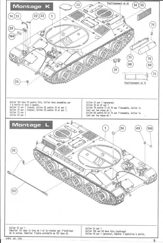 AMX 30 canon de 105 1/35ème Réf L 810 931479HellerAMX30105810009