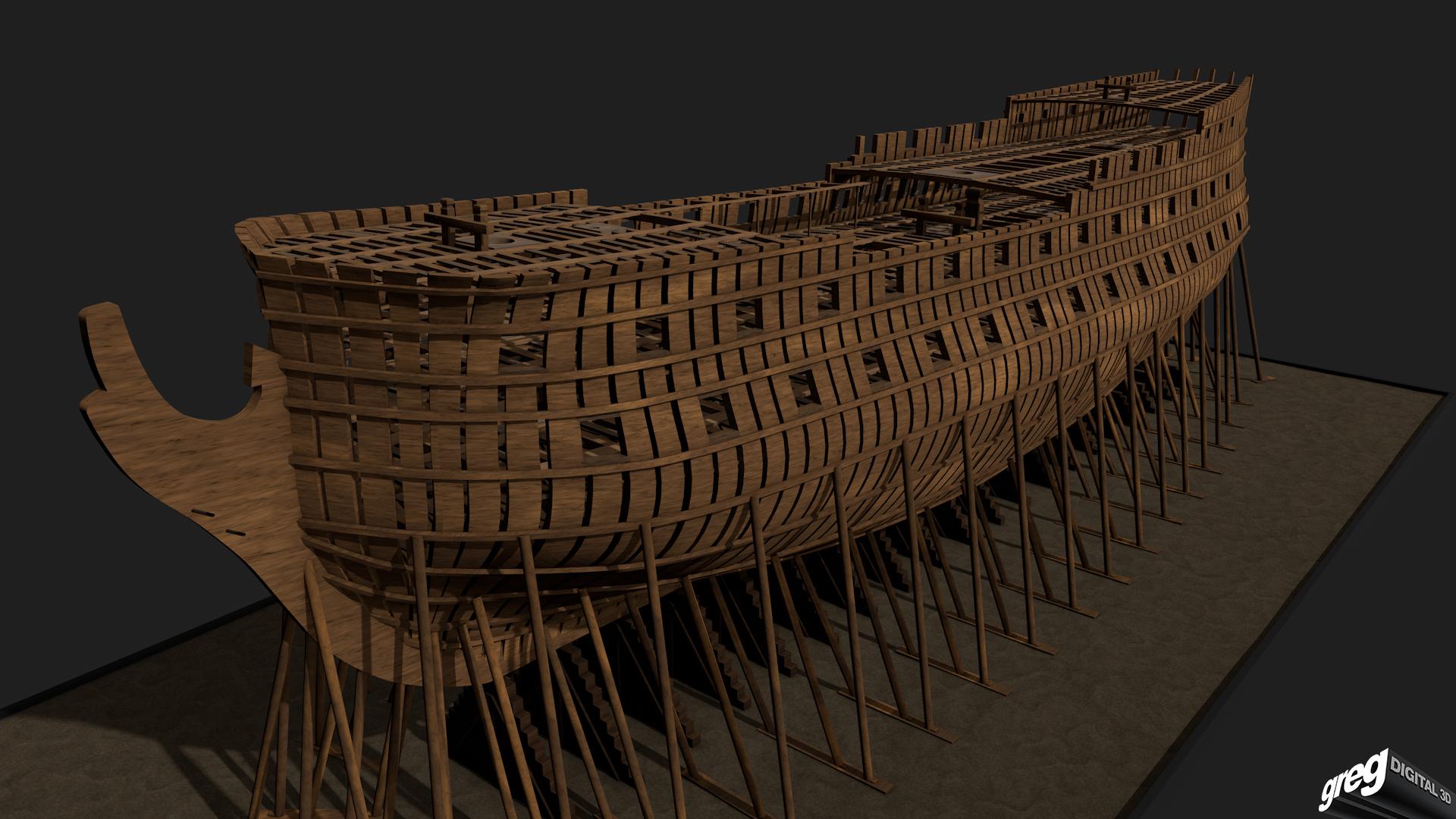 Vaisseau 74 canons Lucide (Création 3D) de Greg_3D - Page 2 932638Squelettebittons2