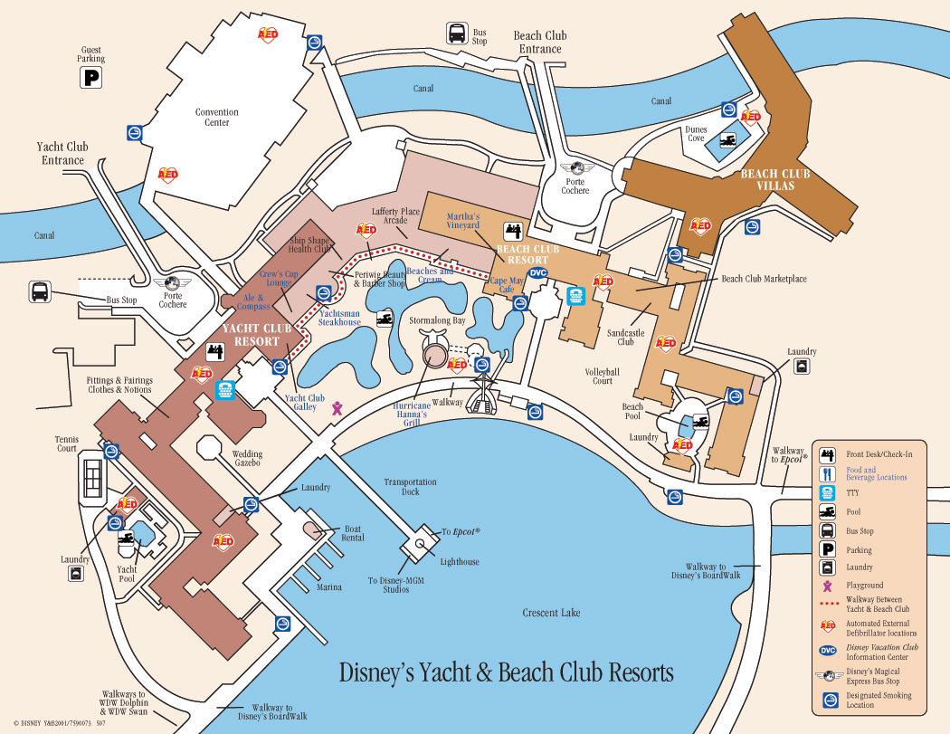 Descriptions des Hôtels de WDW 943035DisneysYachtClubResortMap