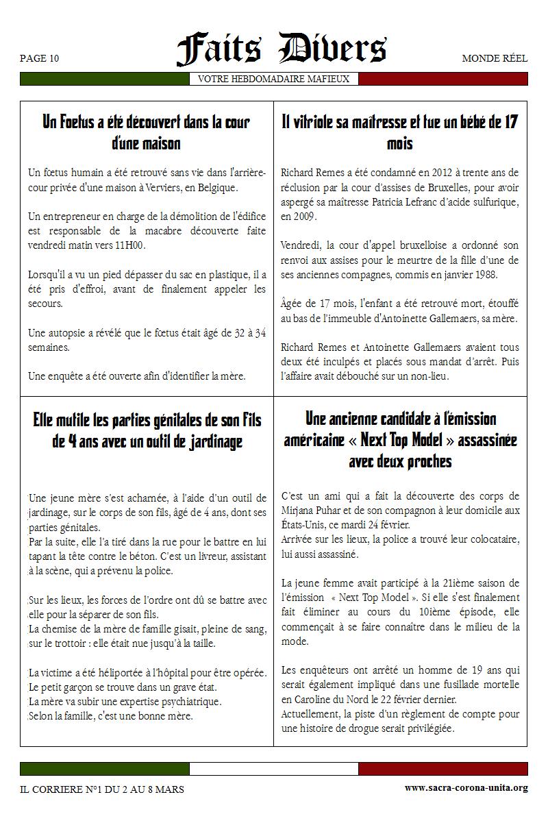 Il Corriere N°1 du 2 au 8 mars 2015 945102FaitDivers