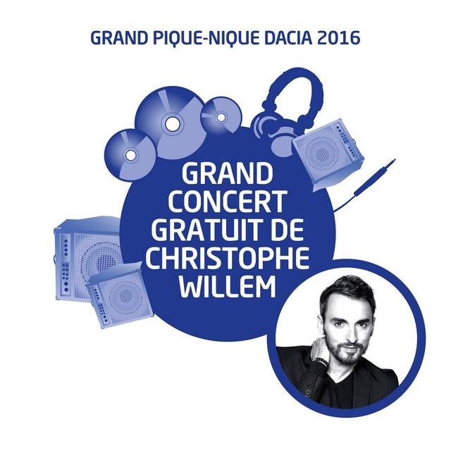 Grand Pique-Nique Dacia 2016 : le rassemblement annuel de la marque accueille Christophe Willem pour un grand concert 9519377748416