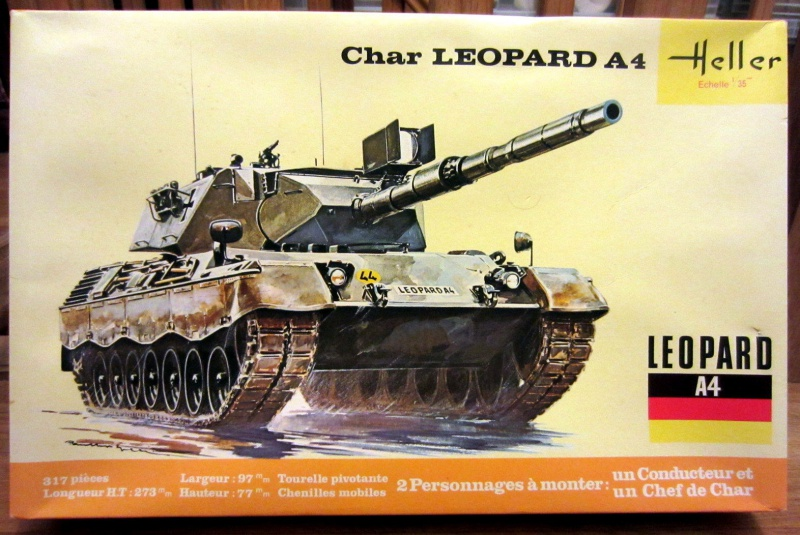 Char LEOPARD A4 1/35ème Réf 823 955787HellerLopardA4823000