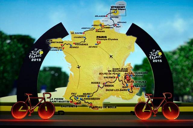 Tour de France 2015 : le parcours officiel dévoilé 960766tourdefrance2015