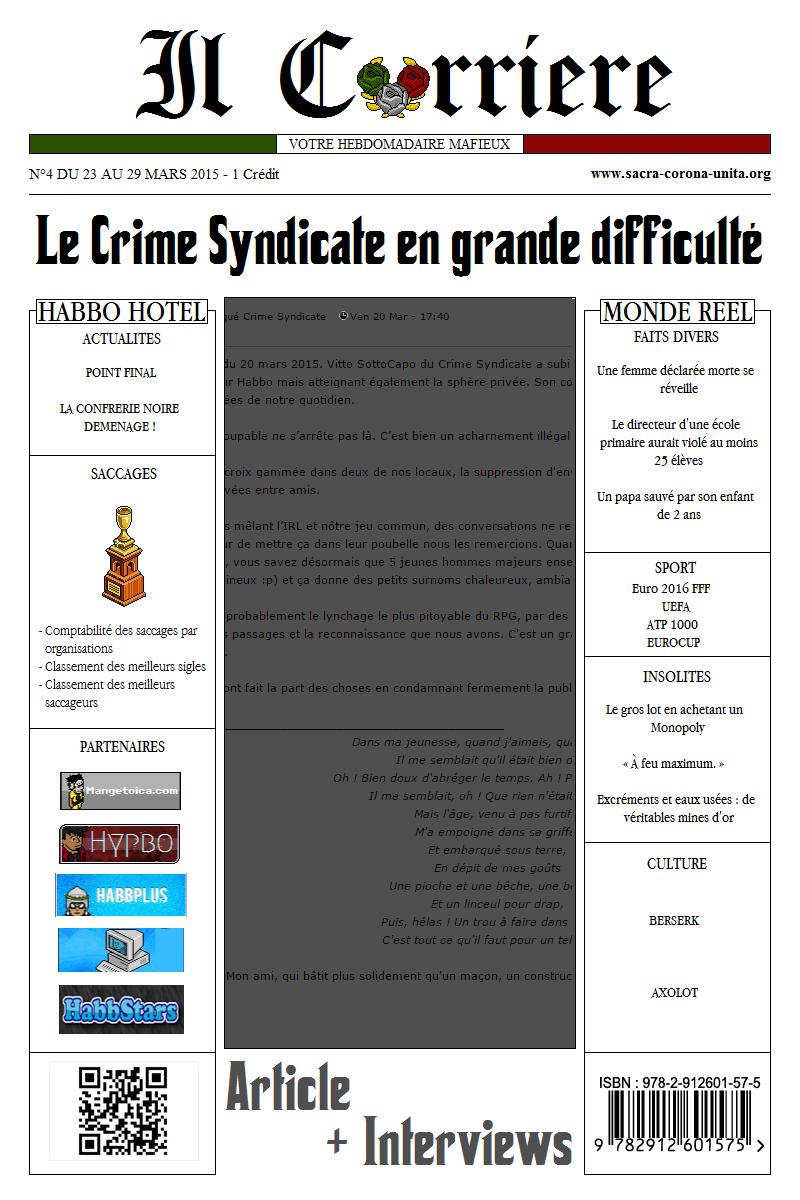 Il Corriere N°4 du 23 au 29 mars 2015 971247Une