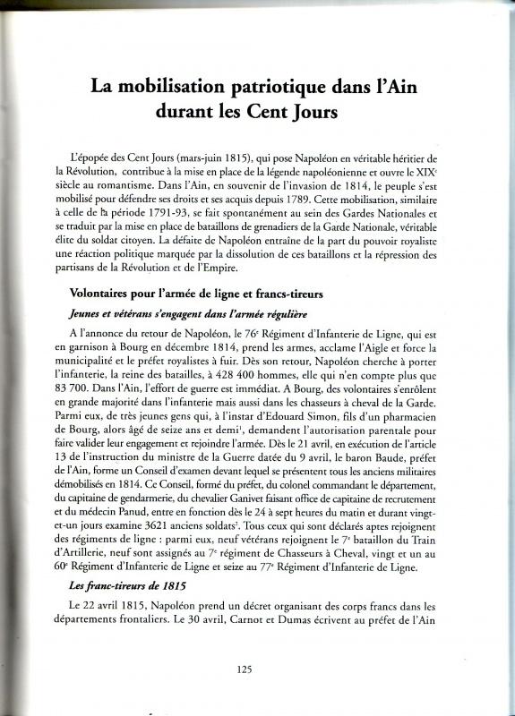 Les derniers feux de l'Empire, Campagne de France 1815 973109SanstitreNumrisation02a