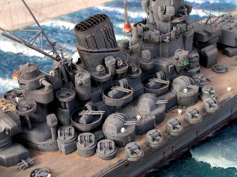 Yamato waterline au 1/350° de Tamyia  9756991533