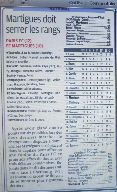 PARIS FC 981297P1220497