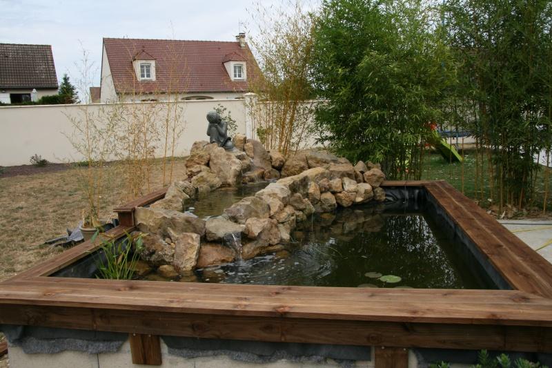 bassin 5/6 m3 semi enterré avec cascade et déversoir 982842IMG2931