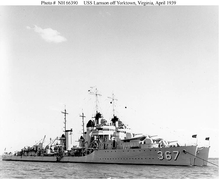 USN DESTROYERS CLASSE MAHAN 983445USSLamson1939