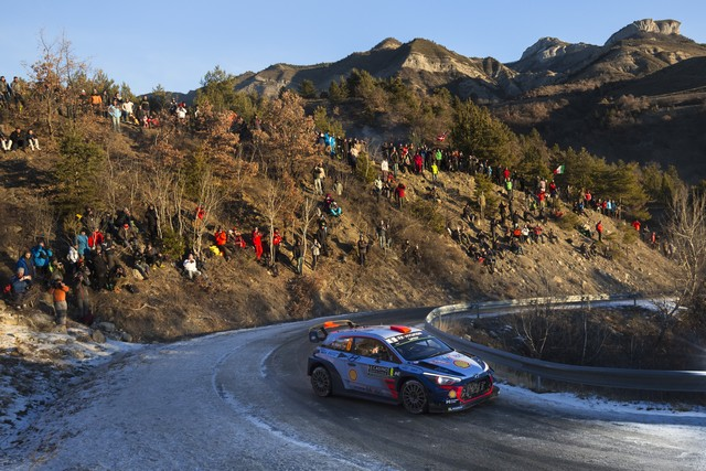 Rallye Monte Carlo Une Victoire En Power Stage pour Consoler Hyundai Motorsport  98399915222017montecarlohem251
