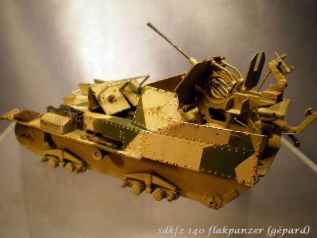 sd.kfz 140 flakpanzer (gépard) maquette Tristar 1/35 988670IMGP3088