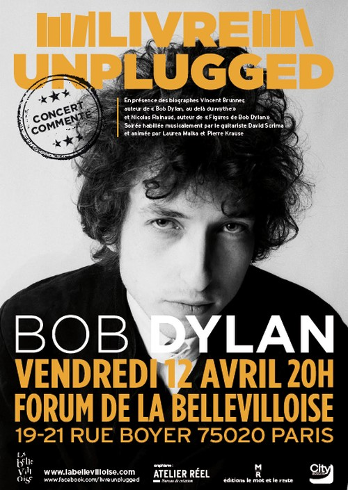 Soirée Bob Dylan à Paris le 12 avril 990270AfficheDylan