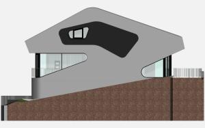 """Challenge thème : """"modélisation et rendu d'une maison atypique"""" - Silk37 & SB - ArchiCAD 17 - 3DS/V-Ray - Photoshop Mini_135096OLSHouseFaceOuestvue1"""