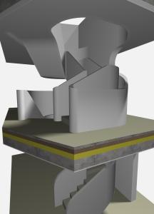 """Challenge thème : """"modélisation et rendu d'une maison atypique"""" - Silk37 & SB - ArchiCAD 17 - 3DS/V-Ray - Photoshop Mini_349358OLSHouseEscalierVue3"""