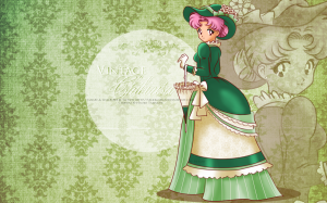 Sailor Moon Mini_370214vintageladychibiusagreenwallpaperbyselinmarsoud4vn9mp