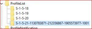 Windows s'ouvre sur une session temporaire Mini_382281ProfileList