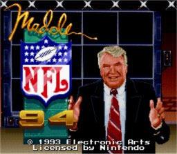 Madden NFL '94 - Fiche de jeu Mini_390512991