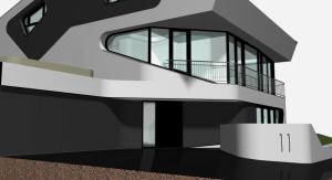 """Challenge thème : """"modélisation et rendu d'une maison atypique"""" - Silk37 & SB - ArchiCAD 17 - 3DS/V-Ray - Photoshop Mini_444260OLSHouseFaadenordvue3"""