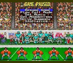Madden NFL '94 - Fiche de jeu Mini_488618792