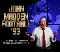 John Madden Football '93 - Fiche de jeu Mini_573170631
