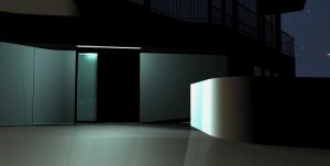 """Challenge thème : """"modélisation et rendu d'une maison atypique"""" - Silk37 & SB - ArchiCAD 17 - 3DS/V-Ray - Photoshop Mini_610847OLSHouseVuedenuit1"""