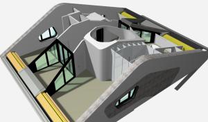 """Challenge thème : """"modélisation et rendu d'une maison atypique"""" - Silk37 & SB - ArchiCAD 17 - 3DS/V-Ray - Photoshop Mini_654397OLSHouse1erEtage"""