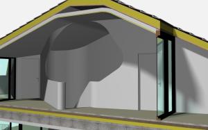 """Challenge thème : """"modélisation et rendu d'une maison atypique"""" - Silk37 & SB - ArchiCAD 17 - 3DS/V-Ray - Photoshop Mini_696440OLSHouseEtagevue3"""