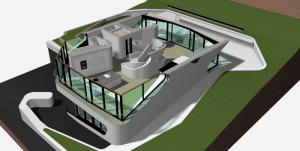 """Challenge thème : """"modélisation et rendu d'une maison atypique"""" - Silk37 & SB - ArchiCAD 17 - 3DS/V-Ray - Photoshop Mini_738067OLSHouseRezdejardin"""