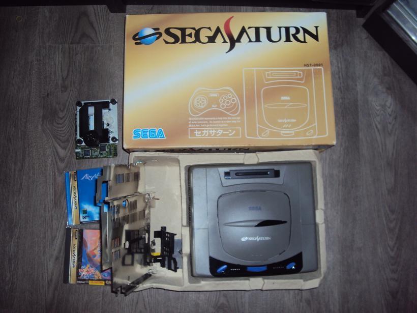 [Vds] Console sega saturn V1 japan HST-0001 en boite + 3 jeux 111143DSC04467