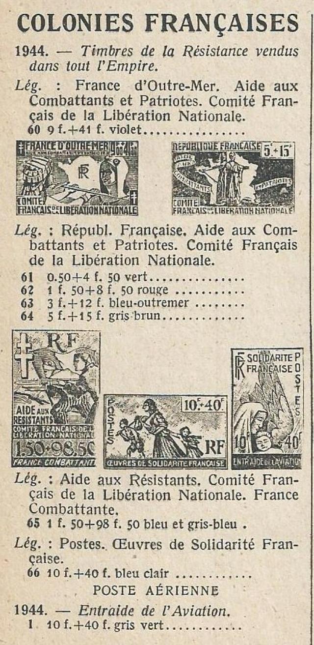"""Timbre """"Aide aux résistants"""" émission du CFLN 1943 111518aide41eb577"""