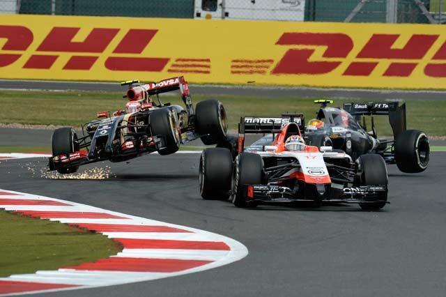 F1 GP de Grande Bretagne 2014 : Victoire Lewis Hamilton 118099CollisionMaldonadoGutierrez