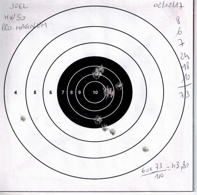 Tests plombs avec carabine Weihrauch HW50S 118885HW50GAMOPROMAGNUM