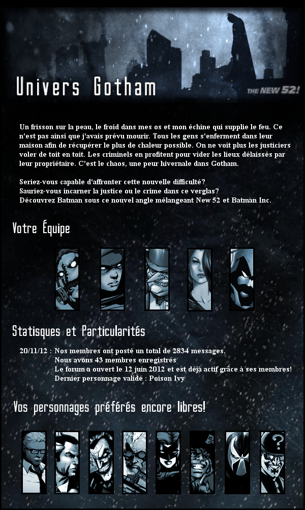 Top Partenaire : Univers Gotham City - Batman RPG 124597Gothamnewsverglas