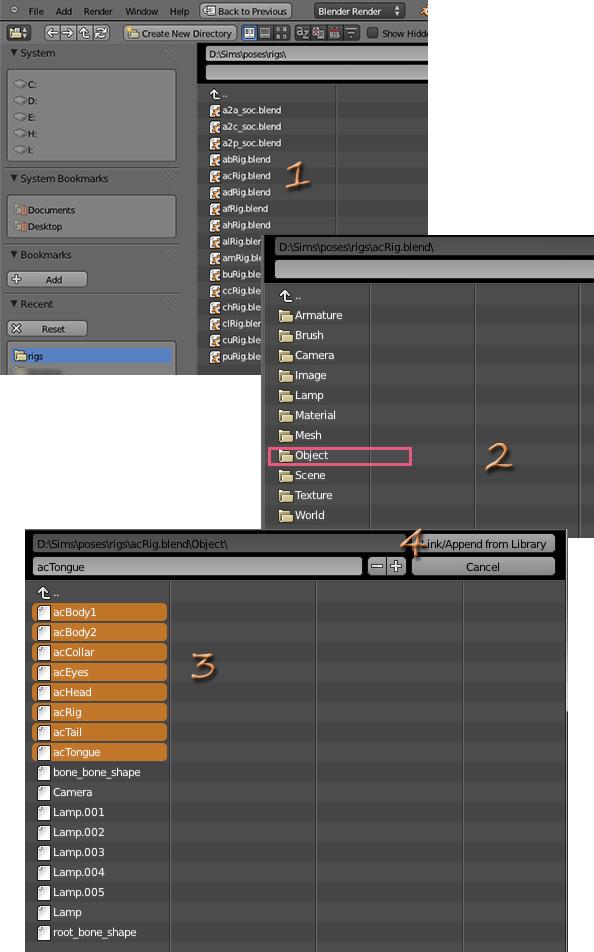 [Intermédiaire] [Blender 2.6 et 2.7] Des poses multiples avec Blender 129093203