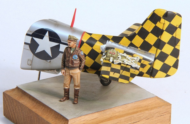 Checkertail clan (pilote US 1/32 et bout de P51D 1/32) 134622003