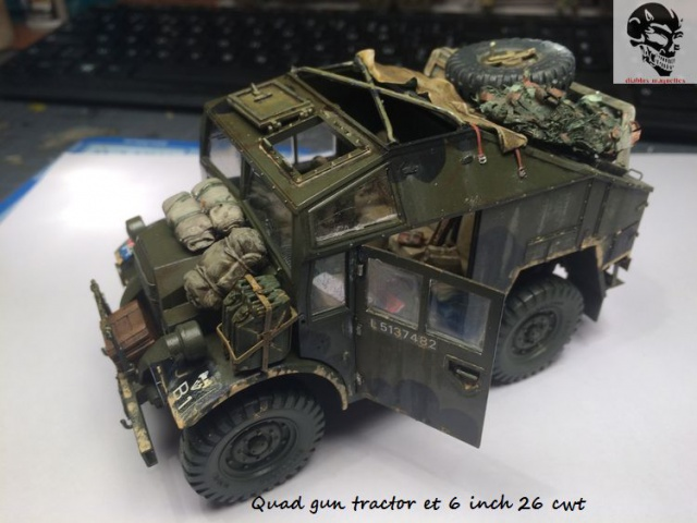 Quad gun tractor et 6 inch 26 CWT en Normandie 1/35 136994IMG4833