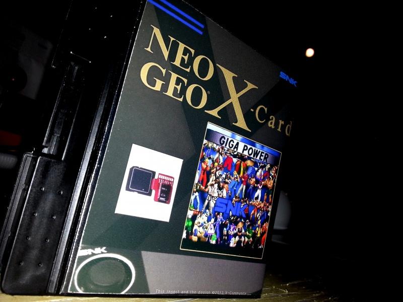 Insert neo geo x pour boites neogeo pocket 15131320130323221933