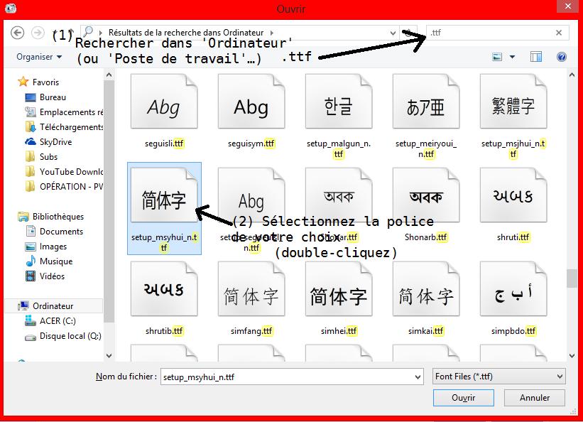 (Incrustations) Incruster des sous-titres avec Format Factory ou AVI Recomp (quand Virtual Dub ne marche pas) 151719004Slectionnerpolice