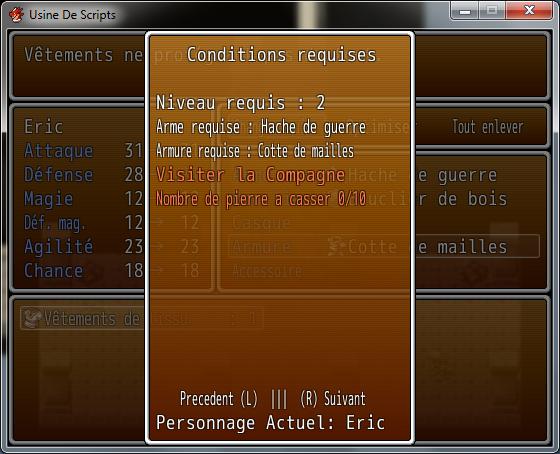 Problème Script Requirements 152825Screen