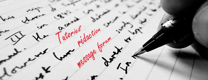 Tutoriel de rédaction de messages