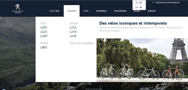 PEUGEOT Cycles lance son nouveau site web 178462Menus