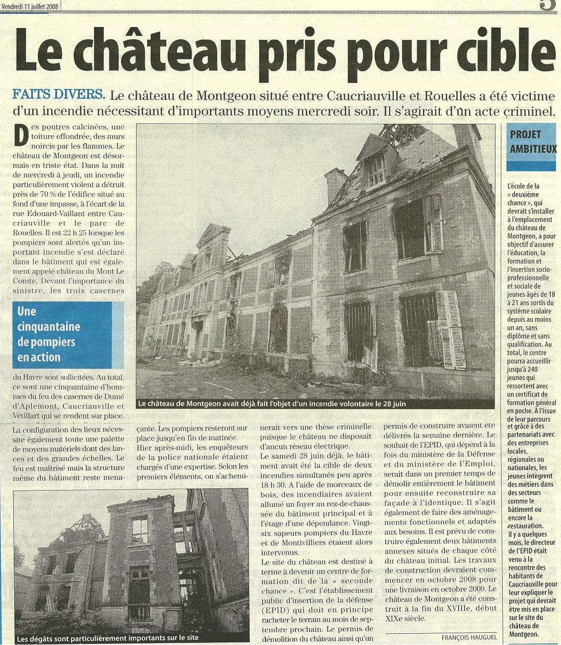2008 - Incendie du château de Montgeon à Caucriauville 178711montgeon1