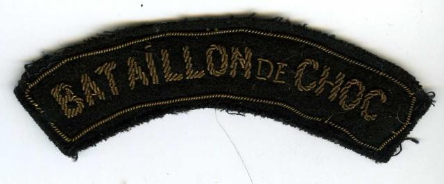 LES INSIGNES DU BATAILLON DE CHOC 1943/1963. 1802712v8px5s