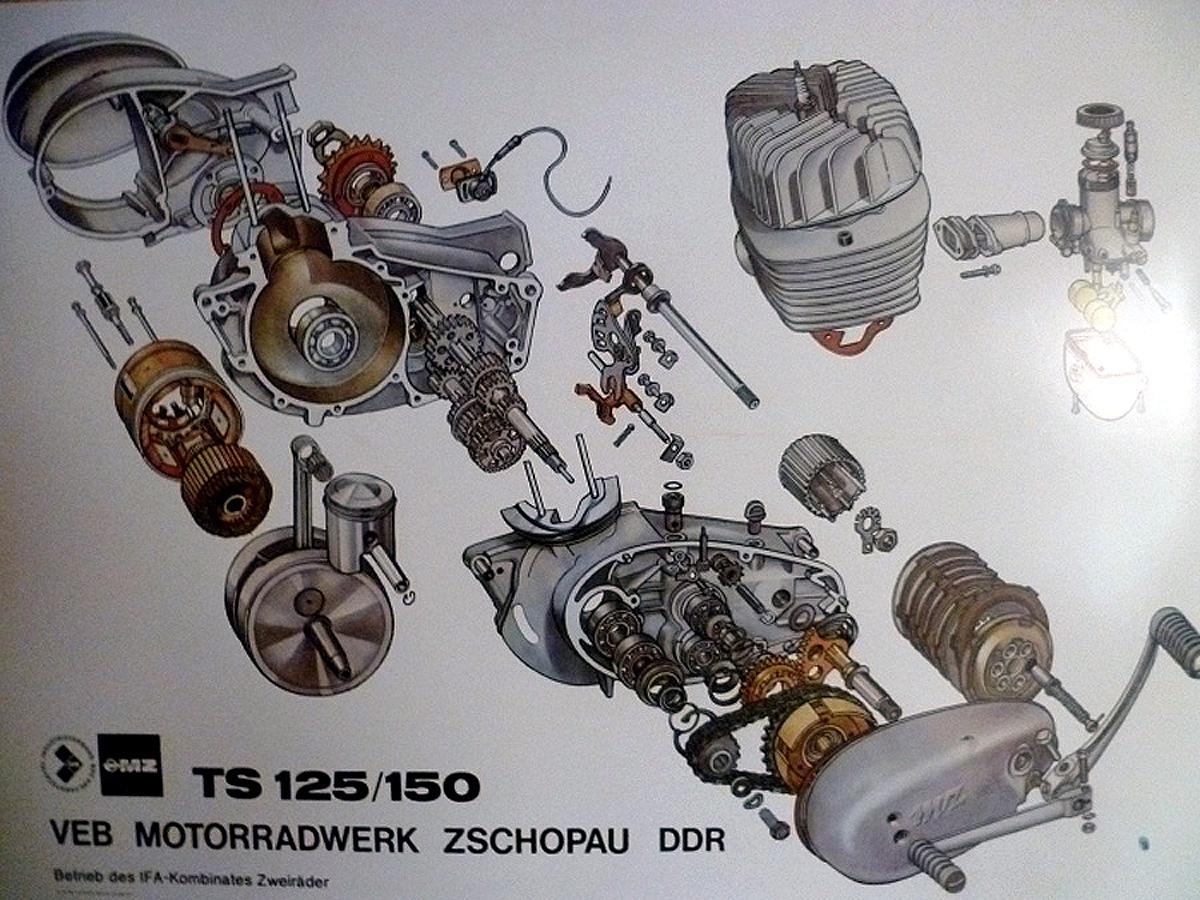 remontage d'un bas moteur d'une 125 TS 181562001