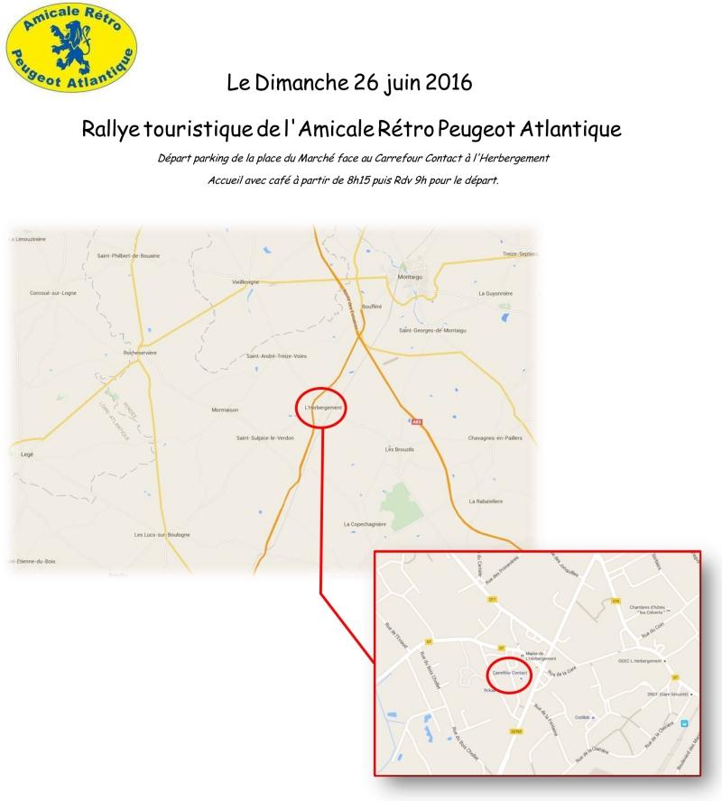 26 Juin - 29 ème Rallye de l'Amicale Rétro Peugeot Atlantique (ARPA) 184259RdvDepartRallye2016
