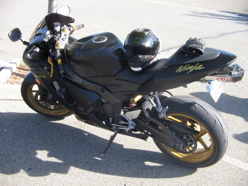 Ma moto furtive black mat et or  186619zx6r3