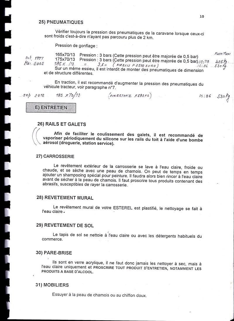 Manuel d'utilisation et d'entretien des caravanes Esterel 1997/1998 187832IMG0010